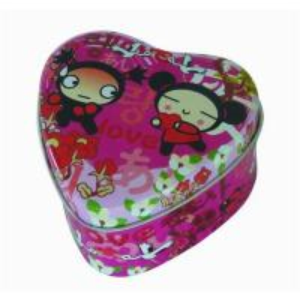 China Heart shape tin box on sale