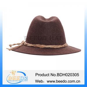 China Hot selling woolen beer festival alpine hats for men on sale