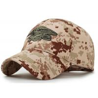 Quality Leisure Camouflage Custom Embroidered Caps , Snapback Embroidered Fitted Hats for sale