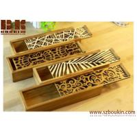 China Lace hollow wooden pencil case on sale