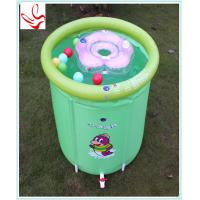 Quality Barrel Shape Small Inflatable Baby Swimming Pools Phathalate Free for sale