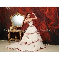 Quality 2012 New Fashion Sweetheart Ball Gown Applique Beaded Tulle Satin Prom Dress (DB-066) for sale