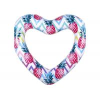 Quality Colorful Durable Thick PVC Inflatable Swim Ring / Heart Pool Tube Floats for sale