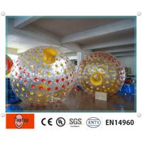 China 2.4m Diameter PVC Inflatable Zorb Ball , floating Glowing zorbing ball for kids and adults on sale