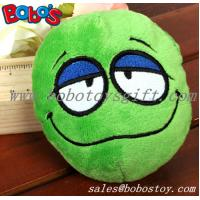 China Green Plush Squeakly Face Style Pet Toy Dog Cat Toy on sale
