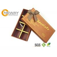 Buy cheap Embossing Finishing Kraft Paper Gift Box , Custom Printed Gift Chocolate Boxes product