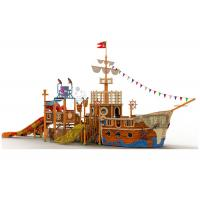 Quality Fiberglass Material Water Playground Equipment / FRP Pipe Pirate Ship Slide for sale