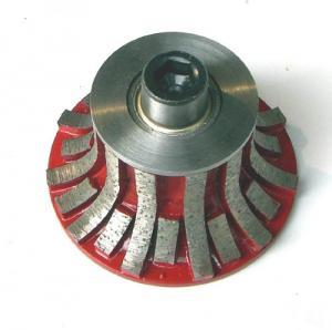 China Segmented Portable Carving Diamond Profile Wheel For Stone Slab Edge Profiling on sale