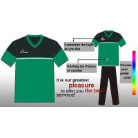 China Cool Dry Sublimated Soccer Team Wear / GreenSoccer Jerseys for Men on sale