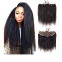 China Real Human Kinky Straight Virgin Dyeable Hair Extensions Natural Color on sale