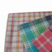 Quality Y/D Check Fabric, Made of Linen/Cotton, Available in Width of 56 or 57-inch for sale