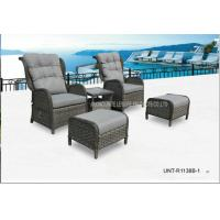 Quality Adjustable Outdoor Lounge Chairs , Rattan Garden Chairs With Cushion for sale
