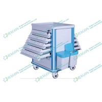 Quality ABS plastic and Steel hospital dressing trolley with Litter Basket and Drawers for sale