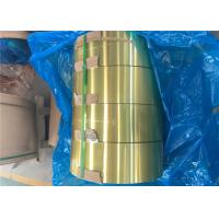 Quality Epoxy Hydrophilic Gold Aluminium Foil H22 For Air Conditioner Radiator for sale