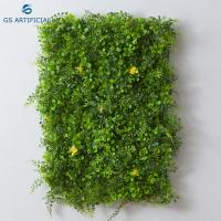 Quality Customized Size Artificial Flower Wall Photo Background In Green Color for sale