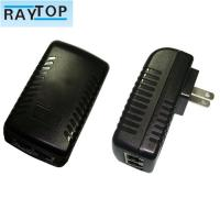 Quality 24w Wall Mount POE Power Adapter Power Supply Support 802.3af/At 10 / 100Mbps for sale
