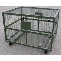Quality Wire Mesh Stackable Pallet Boxes Metal Cage IBC Q235 Material CE Certification for sale