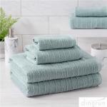Quality 100% Cotton Textured Bath Towel Set of 6 Soft Luxurious Bathroom Towels for sale