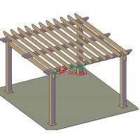Buy cheap Outdoor wood plastic composite pergola designs / 5mx5m layout / OLDA-5001-03 from wholesalers