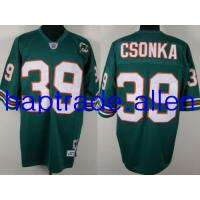Quality American football jerseys Wholesale Thailand Miami Dolphins 39# Larry Csonka Authentic Green Throwback jerseys free shipping for sale