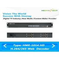 4 Channel 1U Digital TV Encoder / HD SDI H 264 Encoder Independent IP Out