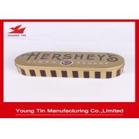 China Custom Printed Chocolate Packaging Gifts Tin Boxes With 0.23 MM Tinplate on sale