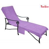 Buy Purple Pool Outdoor Furniture Chaise Lounge , Ergonomic Design  Outside Lounge Chairs at wholesale prices