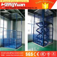 Quality guide rail lift /telescopic lift /guide rail hydraulic cargo lift for sale
