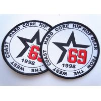 China Rubber 3D Custom Clothing Patches Embosssed With Backing on sale