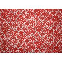 Quality Red 47 Inches DTM Flower Embroidered Lace Fabric With African Cord Lace By Azo Free for sale