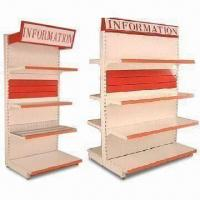 Buy cheap Single-sided Gondola Supermarket Shelf, Available in Metal, Glass, and Wire Grid from wholesalers