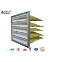 Quality Customized Galvanized Frame Pocket Air Filter for Ventilation System Industrial for sale