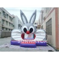 Cute Lagomorpha Commercial Inflatable Bouncers , Giant inflatable jumping toys