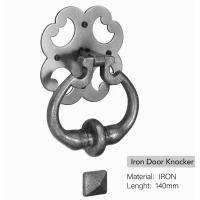 China Economical Unique Door Knockers Classical Simple Style Black Coated With Door Stud on sale