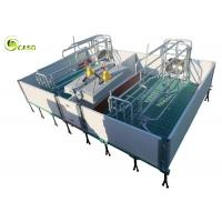 Quality Galvanized Adjustable Floding Pig Farrowing Crate Plastic Hollow Panel Pig Stall for sale