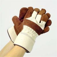 China Brown Cow Split Leather Work Glove on sale