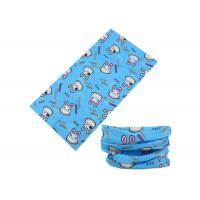 Quality Polyester Blue Cute Design Kids Buff Head Scarf , 25*50 CM Breathable Buff Ski Neck Warmer Fast Dry for sale