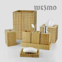Quality Eco Friendly Modern Bamboo Bathroom Sets with A Carbonization Effect for sale
