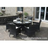 Quality Household Outdoor Furniture Dining Set for Garden With Parasol Hole , Dining Tables and Chairs for sale