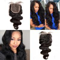 Quality Brazilian Virgin Hair Lace Top Closure Body Wave Free Middle Three Parting for sale