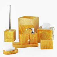 Quality Golden Polyresin Bathroom Set With Great Resistance To Abrasion And Break (WBP0339A) for sale