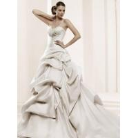 Quality wholesale Gorgeous Pleats Long Trailing Ball Gown Sweetheart Wedding Dress D62856 for sale