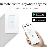 Quality Smart Wifi Switch US 1/2/3 Gang Touch Panel Wireless Remote Control Light Switch Compatible Alexa Google Home Tuya APP for sale
