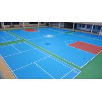 Quality Synthetic Poured Urethane Gym Floor , Recycled Pulastic Sports Flooring for sale