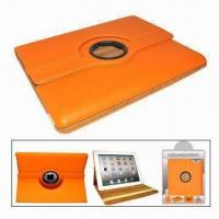 Quality Leather Case for iPad, with Function of Stand amd Rotating Cover for sale