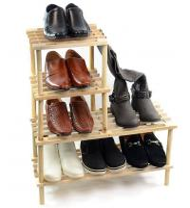 Quality Unique Design Storage Rack Shelf Wood Shoe Storage Unit Organiser Bedroom Shelving Units for sale