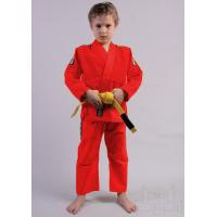 Quality Lightweight Brazilian Jiu Jitsu Clothing Red Karate Suit 100% Cotton Material for sale