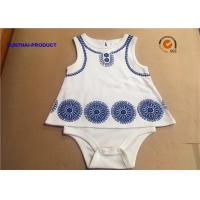 Quality Sleeveless Newborn Baby Bodysuits / Round Neck Cotton Baby Romper With Foaming Screen Print for sale