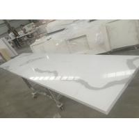 Quality Solid Surface Calacatta Quartz Slab Countertops With White Vein OEM / ODM Avaliable for sale