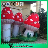 Quality Air Blown Inflatable Orange Lighting Event Inflatable Mushroom for sale